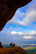 Picnic at Roca Foradada, Montserrat mountain, Catalonia