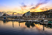 Sunset at Dana Point Harbor by the Ocean Institute