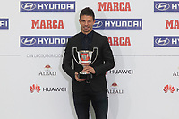 Xabier Irureta receives an award during MARCA Football Awards ceremony in Madrid, Spain. November 10, 2014. (ALTERPHOTOS/Victor Blanco)