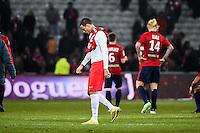 Deception Gregory Van der Wiel - 03.12.2014 - Lille / Paris Saint Germain - 16eme journee de Ligue 1<br />Photo : Fred Porcu / Icon Sport