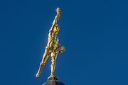 Glden Boy on top of Manitoba Legislature<br /> Winnipeg<br /> Manitoba<br /> Canada