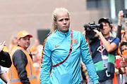 Aankomst  bij de openingswedstrijd van WEURO2017, het EK voetbal vrouwen gehouden in de Stadion Galgenwaard Utrecht<br /> <br /> Op de foto:  Kika van Es