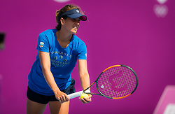 February 9, 2019 - Doha, QATAR - Barbora Strycova of the Czech Republic during practice ahead of the 2019 Qatar Total Open WTA Premier tennis tournament (Credit Image: © AFP7 via ZUMA Wire)