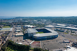 CARDIFF, WALES - Tuesday, September 7, 2021: An aerial view of Cardiff City Stadium ahead of the FIFA World Cup Qatar 2022 Qualifying Group E match between Wales and Estonia. (Pic by David Rawcliffe/Propaganda)