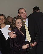 Julia Sawalha and Stephen Edmonds, European premiere of Cirque de Soleil's Dralion, Royal Albert Hall and afterwards at the Natural History Museum, 8 January 2003.  .© Copyright Photograph by Dafydd Jones 66 Stockwell Park Rd. London SW9 0DA Tel 020 7733 0108 www.dafjones.com