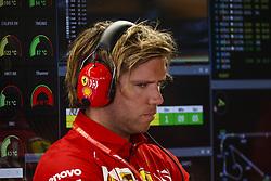 May 10, 2019 - Barcelona, Catalonia, Spain - Sebastian Vettel's assistant, team Ferrari during F1 Grand Prix free practice celebrated at Circuit of Barcelona 10th May 2019 in Barcelona, Spain. (Credit Image: © Mikel Trigueros/NurPhoto via ZUMA Press)