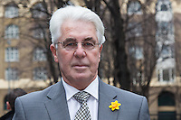 Max Clifford arrives at Southwark Crown Court in London, 11 March 2014. Photo by Vickie Flores.