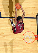 Nov 6, 2010; Charlottesville, VA, USA; Roanoke College g Corey Poindexter (3) grabs a rebound Saturday afternoon in exhibition action at John Paul Jones Arena. The Virginia men's basketball team recorded an 82-50 victory over Roanoke College.