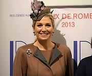 Koningin Maxima aanwezig bij Prix de Rome 2013. De Prix de Rome is de oudste en meest genereuze prijs voor jonge kunstenaars en architecten (tot 40 jaar) in Nederland. <br /> <br /> Queen Maxima attended Prix de Rome in 2013. The Prix de Rome is the oldest and most generous prize for young artists and architects (under 40 years) in the Netherlands.<br /> <br /> Op de foto / On the photo:  Koningin Maxima /  Queen Maxima