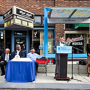 Rail Rally, Kansas City Streetcar construction, July 29, 2015. Tom Gerend and Kansas City Council.