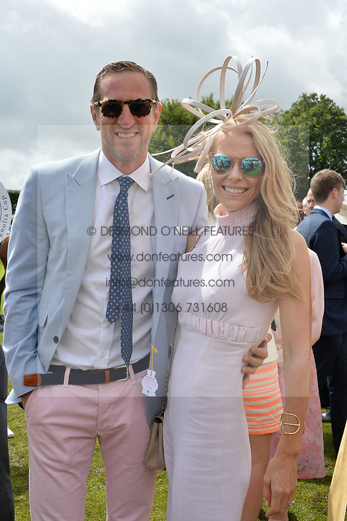 Rugby World Cup winner Will Greenwood and Caroline Greenwood at the Qatar Goodwood Festival, Goodwood, West Sussex England. 3 August 2017.<br /> Photo by Dominic O'Neill/SilverHub 0203 174 1069 sales@silverhubmedia.com