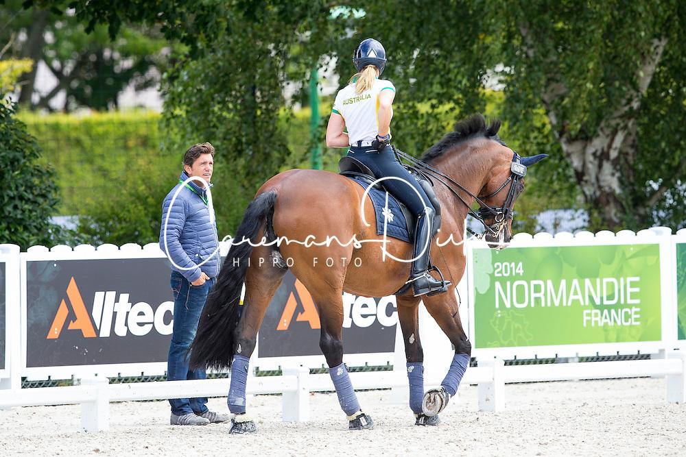 Tomkinson Maree, (AUS), Diamantina 4, Koschel Christoph, (GER)<br /> Alltech FEI World Equestrian Games™ 2014 - Normandy, France.<br /> © Hippo Foto Team - Leanjo de Koster<br /> 25/06/14