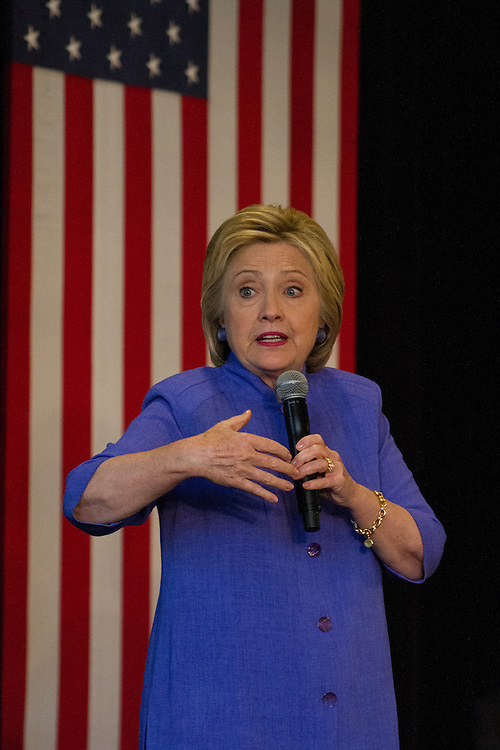 Hillary speaking about how rally violence isn't okay. June 3rd, 2016 in Westminster California.