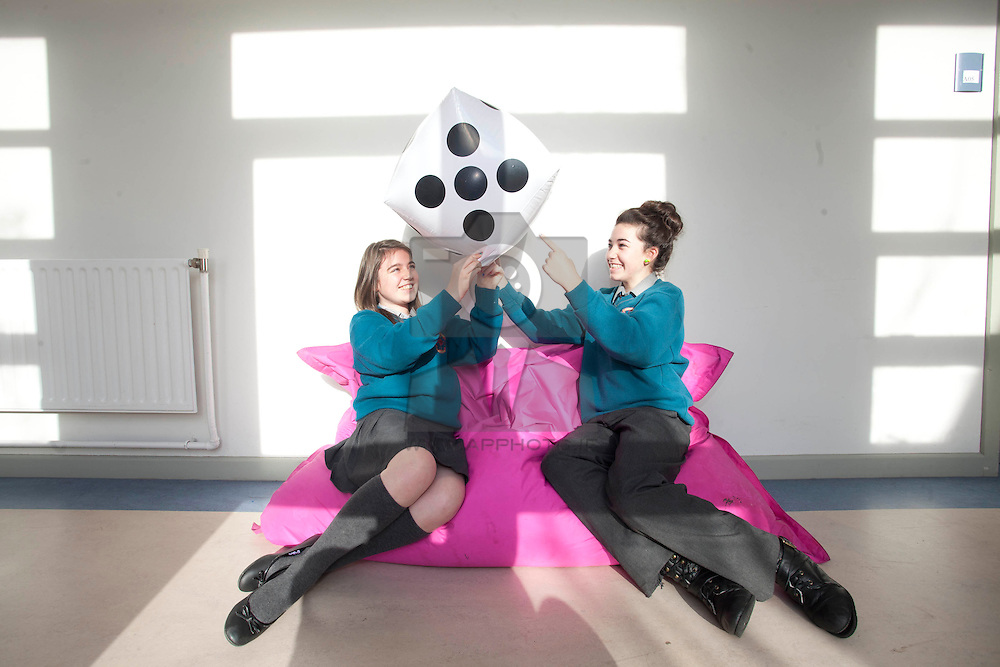 No fee for Repro:<br /> ITB Making Maths Fun For First Year Students!<br /> Ciara Poole and Leah Byrne from Hartstown Community School pictured at ITB (Institute of Technology Blanchardstown), as they host an exciting mathematics workshop titled 'Maths and Sport: Countdown to the Games' during Science week this week.  The Project promises to make maths fun for first year students from Blakestown Community School, Luttrellstown Community College, Hartstown Community School, Setanta Community College and Riversdale Community College.  Pic Andres Poveda