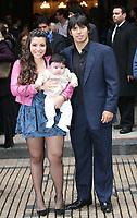 """BUENOS AIRES, ARGENTINA - JUNE 20: KUN AGUERO SON BAPTISM.<br />Baptism of BENJAMIN AGUERO, son of Atletico Madrid and Argentine Soccer National Team player SERGIO KUN AGUERO and Diego Maradona daughter GIANINNA MARADONA, on June 20, 2009 in Buenos Aires, Argentina.<br />The Baptism was in the same week that Aguero have a bog problem with his wife Gianinna Maradona because he was at nigh to a Disco Club with same friend and same """"worked girls""""<br />On of this girls are making many TV presentation explaining about her hot nigh including sex with Sergio Aguero.<br />The ceremony was at the Church of """"San Expedito de Balvanera"""".<br />Despues de la iglesia se dirigieron al complejo Punta Carrasco  donde alli se organizo la fiesta del bautismo, el lugar estaba todo basado en  la pelicula El libro de la selva, inclusive llego una trafic donde llevaron un  mono y un loro para hacer fotos representando a la selva y toda su  ambientacion, en la fiesta participaron mas de 180 invitados entre familiares  y amigos en lo que no faltaron Ricardo Darin, Guillermo Francella, el jugador  el cata diaz y sra, el jugador Maxi Rodriguez y su pareja, y demas  hubo  tres musicales uno el de Ciro, luego Yayo que a pedido de Kun iba a cantar  unos temas no muy subidos de tono como hace siempre ya que es un bautismo y el  cierre musical de la fiesta lo hizo el grupo de bailanta Damas  Gratis.<br />© PikoPress"""