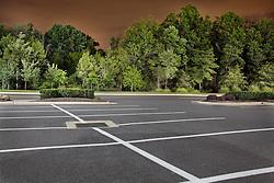 Night Urban landscapes of parking lot