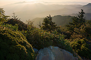 Sunrise from Myrtle Point on Mt LeConte in the Great Smoky Mountains<br />