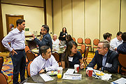 Attendees network during the Silicon Valley Business Journal's Future of Fremont event at Fremont Marriott Silicon Valley in Fremont, California, on June 18, 2019.  (Stan Olszewski for Silicon Valley Business Journal)