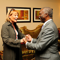 Khartoum, Sudan 12 April 2010.EU mission chief observer Veronique de Keyser meets African Union president Thabo Mbeki..Photo : Scorpix - Ezequiel Scagnetti
