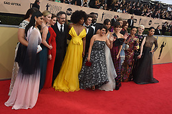 January 20, 2018 - Los Angeles, California, U.S. - THE CAST OF GLOW during red carpet arrivals for the 24th Annual Screen Actors Guild Awards, held at The Shrine Expo Hall. (Credit Image: © Kevin Sullivan via ZUMA Wire)