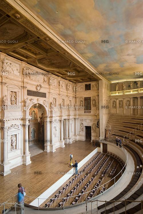 TEATRO OLIMPICO (architetto Andrea Palladio 1580), INTERNO, VICENZA, VENETO, ITALIA