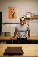 Xocolatl Chocolate owner David Briggs in the kitchen where he makes his small batch, artisan chocolates.