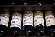 Chateau Petrus fine wine vintage 1973, 1974, 1976, 1979, 1982 on sale in St Emilion, Bordeaux, France
