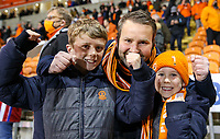 Blackpool fans celebrate after the match<br /> <br /> Photographer Alex Dodd/CameraSport<br /> <br /> The EFL Sky Bet League One Play-Off Semi-Final 2nd Leg - Blackpool v Oxford United - Friday 21st May 2021 - Bloomfield Road - Blackpool<br /> <br /> World Copyright © 2021 CameraSport. All rights reserved. 43 Linden Ave. Countesthorpe. Leicester. England. LE8 5PG - Tel: +44 (0) 116 277 4147 - admin@camerasport.com - www.camerasport.com
