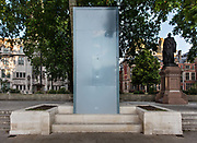 Hidden beneath the cover is a bronze statue, by the sculptor Philip Jackson of Mahatma Gandhi, an Indian lawyer, anti-colonial nationalist, who employed nonviolent resistance to lead the successful campaign for Indias independence from British Rule on 15th June 2020 in Londons Parliament Square, United Kingdom. On its unveiling, commentators noted the irony of the statues placement near the statue of Sir Winston Churchill that also stands in Parliament Square. Churchill, who strongly opposed Indian independence, famously once called Gandhi a seditious Middle Temple lawyer, now posing as a fakir of a type well known in the East, striding half-naked up the steps of the Vice-regal palace. The Telegraph of Kolkata noted that the fact that Gandhi and Mandela now stand alongside a slew of white men in Parliament Square is proof of how much England itself has moved away from Winston Churchills views on racism and imperialism. The statue was boarded up to protect it from attacks by far-right extremists.
