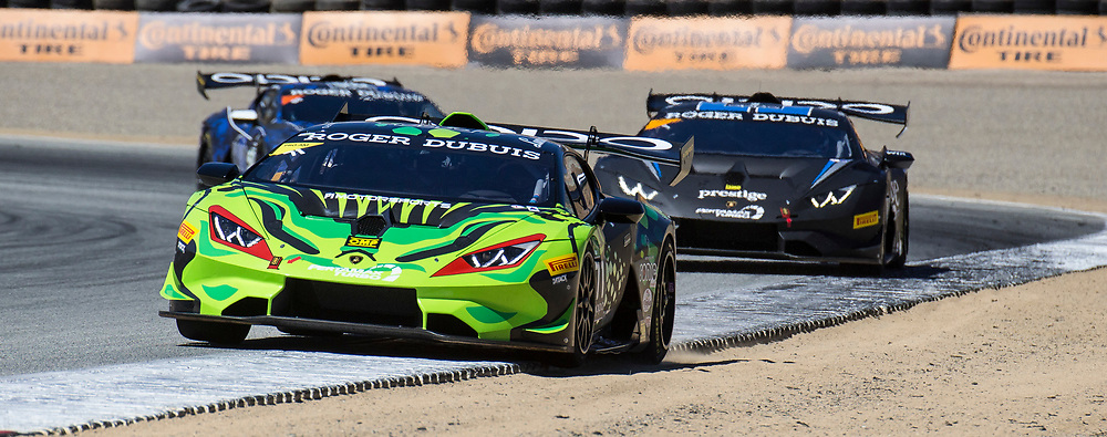 Sept 08, 2018  Monterey, CA, U.S.A.# 71 Drivers J.Perez / L. Spinelli leads the first part of the race coming out of turn 3 during the Continental Monterey Grand Prix Lamborghini Super Trofeo at  Weathertech Raceway Laguna Seca Monterey, CA  Thurman James / CSM