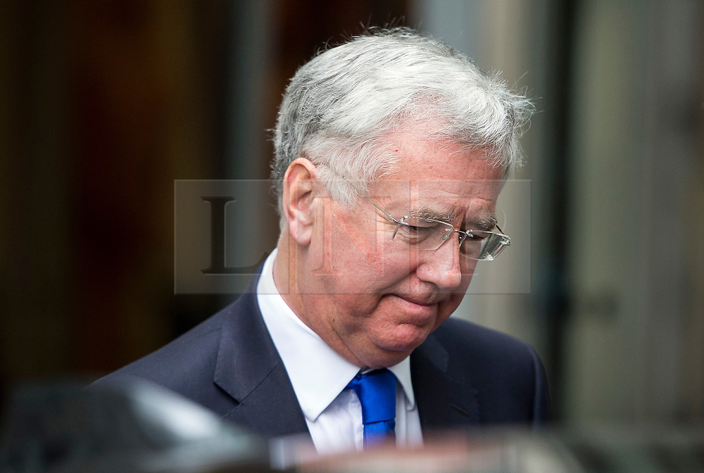 © Licensed to London News Pictures. 19/03/2016. London, UK. Defence minister MICHAEL FALLON leaves BBC Broadcasting House in London after being interviewed about the resignation of former Work and Pensions secretary, Iain Duncan Smith. Photo credit: Ben Cawthra/LNP