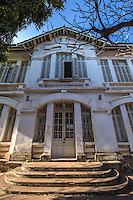 Bibiliotheque National de Laos - French Colonial Architecture in Laos - In order to make French colonists feel more at home and at the same time to reflect its vision of imperial grandeur, the French colonial government rebuilt Laotian cities according to European specifications.