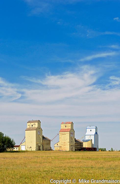 Grain elevators <br />Mossleigh<br />Alberta<br />Canada