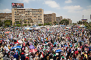 Morsi supporters gather in Cairo, Egypt as part of a pro-government rally in the country, one year after the president was elected.