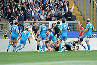Rome, Italy -In the photo Sgarbi achieves the goal during .Olympic stadium in Rome Rugby test match Cariparma.Italy vs New Zealand (All Blacks). (Credit Image: © Gilberto Carbonari).