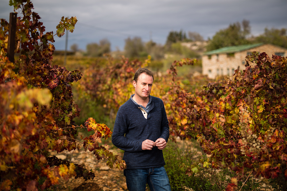 Jewish Israeli Yaakov Berg, owner of Psagot Winery, poses for a portrait outside his house at Psagot Vineyard, in the West Bank Jewish settlement of Psagot, near the Palestinian West Bank city of Ramallah, on November 17, 2015.