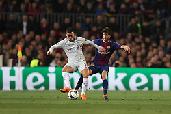 March 14, 2018 - Barcelona, Spain - EDEN HAZARD of Chelsea FC duels for the ball with SERGI ROBERTO of FC Barcelona during the UEFA Champions League, round of 16, 2nd leg football match between FC Barcelona and Chelsea FC on March 14, 2018 at Camp Nou stadium in Barcelona, Spain (Credit Image: © Manuel Blondeau via ZUMA Wire)