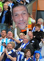 Football - 2016 / 2017 Championship - Brighton & Hove Albion vs. Bristol City<br /> <br /> Brighton fan with a cardboard cut out of Manager Chris Hughton at The Amex.<br /> <br /> COLORSPORT/ANDREW COWIE