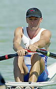 St Catherines, CANADA,  Men's Lightweight  Single Sculls  GBR LM1X peter HAINING, competing at the 1999 World Rowing Championships - Martindale Pond, Ontario. 08.1999..[Mandatory Credit; Peter Spurrier/Intersport-images]  .. 1999 FISA. World Rowing Championships, St Catherines, CANADA