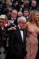 Actress Kristen Stewart, Director Woody Allen and Actress Blake Lively at the gala screening for Woody Allen's film Café Society at the 69th Cannes Film Festival, Wednesday 11th May 2016, Cannes, France. Photography: Doreen Kennedy