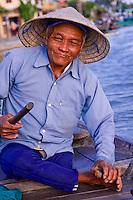 Portrait of a boatman.