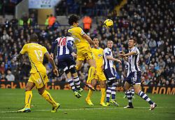 Crystal Palace's Mile Jedinak comes close with a header.-Photo mandatory by-line: Alex James/JMP - Tel: Mobile: 07966 386802 02/11/2013 - SPORT - FOOTBALL - The Hawthorns - West Bromwich - West Bromwich Albion v Crystal Palace - Barclays Premier League