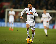 Antonee Robinson of Bolton Wanderers in action. EFL Skybet championship match, Cardiff city v Bolton Wanderers at the Cardiff city Stadium in Cardiff, South Wales on Tuesday 13th February 2018.<br /> pic by Andrew Orchard, Andrew Orchard sports photography.