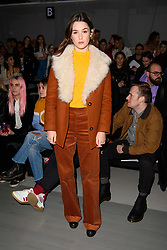 Sai Bennett on the front row during the Alex Mullins London Fashion Week Men's AW18 show, held at the BFC Show space, London. Picture date: Sunday January 7th, 2018. Photo credit should read: Matt Crossick/ EMPICS Entertainment.