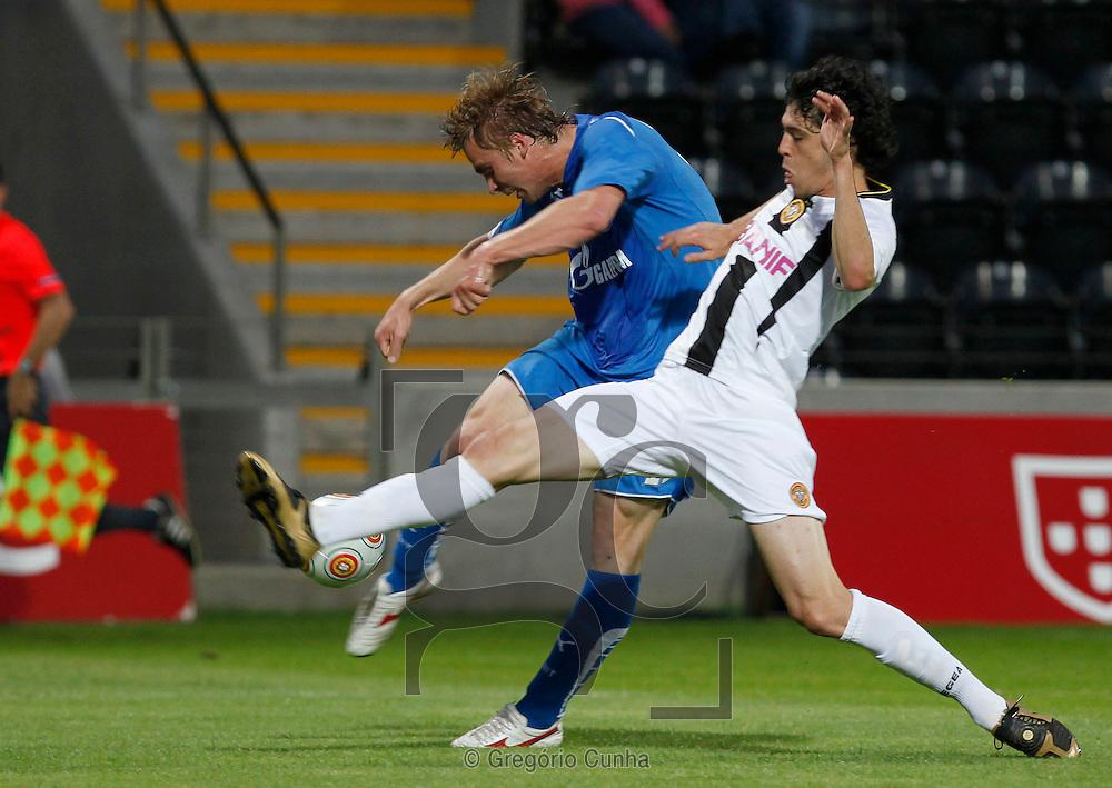Europa League, Madeira stadium.Nacional vs FC Zenit.Felipe Lopes and  Richen.Foto Gregorio Cunha