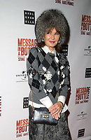 Stephanie Beacham at the Message in a Bottle press night , Peacock Theatre, London