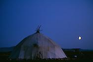 Yaranga tent on the tundra, Chukotka, Russia