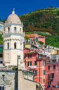 Santa Margherita di Antiochia Church and houses, Vernazza, Cinque Terre, Liguria, Italy