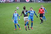Fussball: 2. Bundesliga, FC St. Pauli - Holstein Kiel, Hamburg, 09.01.2021<br /> Guido Burgstaller (Pauli) - Jannik Dehn (Kiel)<br /> © Torsten Helmke