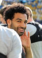 Mo Salah at training pre Champions League final